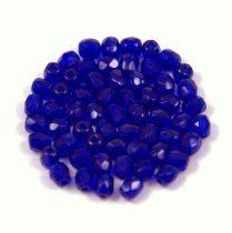 Cseh csiszolt golyó gyöngy - transz kobalt kék-3mm