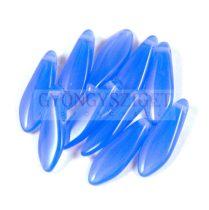Lándzsa (szirom) cseh préselt üveggyöngy - zafír kék -5x16mm