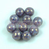 Cseh préselt golyó - Light Sapphire Purple Bronz Luster - 8mm