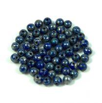 Cseh préselt golyó gyöngy -  sapphire picasso - 3mm