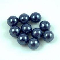 Préselt golyó gyöngy- Opaque Dark Sapphire Luster - 8mm