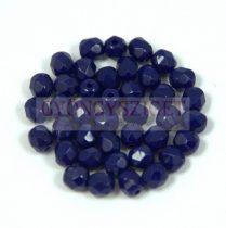 Cseh csiszolt golyó gyöngy - Opaque Cobalt Blue - 4mm