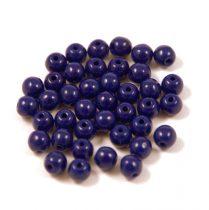 Préselt golyó gyöngy- telt kobalt kék-4mm-p
