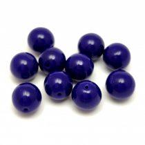 Cseh préselt golyó gyöngy - Opaque Cobalt - 8mm