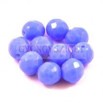 Cseh csiszolt golyó gyöngy - telt lilás kék -8mm