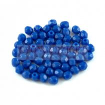 Cseh csiszolt golyó gyöngy - Sapphire - 3mm