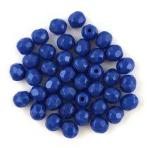 Cseh csiszolt golyó gyöngy - Opaque Sapphire - 4mm