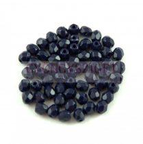 Cseh csiszolt golyó gyöngy - Dark Sapphire -3mm