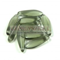 Lándzsa (szirom) cseh préselt üveggyöngy - black diamond -5x16mm