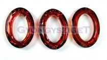 Swarovski - 4137 - 22x16mm - Crystal red magma cosmic oval