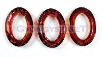 Swarovski - 4137 - 22x16mm - Crystal red magma cosmic oval