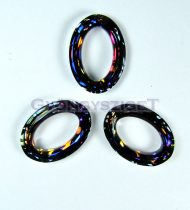 Swarovski - 4137 - 22x16mm - Crystal volcano cosmic oval