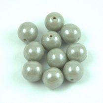 Préselt golyó gyöngy- Opaque Gray Luster - 8mm