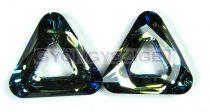 Swarovski - 4737 - 20 mm - Crystal bermuda blue triangle ring