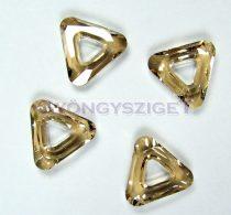 Swarovski - 4737 - 14mm - Crystal golden shadow triangle ring