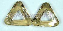 Swarovski - 4737 - 20 mm - Crystal golden shadow triangle ring