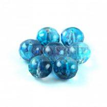 Cseh csiszolt fánk gyöngy 6x9mm - Crystal Vitrail blue