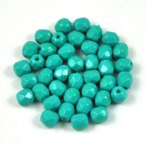 Cseh csiszolt golyó gyöngy -  turquoise -4mm
