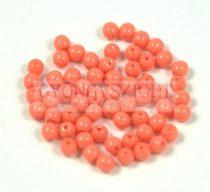 Cseh préselt golyó gyöngy -  Coral - 3mm