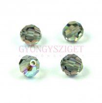 Swarovski csiszolt golyó 6 mm - Black Diamond Shimmer