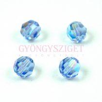 Swarovski csiszolt golyó 6 mm -  Light Sapphire Shimmer