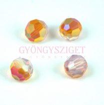 Swarovski csiszolt golyó 8 mm - white opal astral pink
