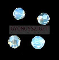 Swarovski csiszolt golyó 8 mm - white opal moonlight