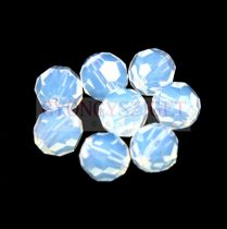 Swarovski csiszolt golyó 8 mm - white opal
