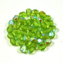 Cseh csiszolt golyó gyöngy - világos oliva ab-4mm