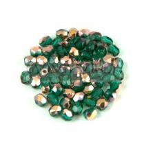 Cseh csiszolt golyó gyöngy -  Emerald Apollo - 3mm