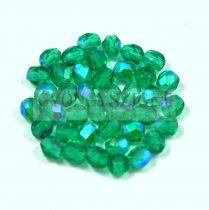 Cseh csiszolt golyó gyöngy -  emerald ab - 4mm