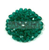 Cseh csiszolt golyó gyöngy -  Emerald - 3mm