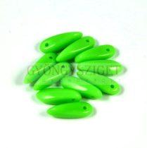 Lándzsa (szirom) cseh préselt üveggyöngy - Light Green - 3x11mm