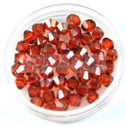 Swarovski bicone 4mm - crystal red magma