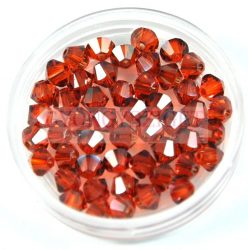Swarovski bicone 4mm - crystal red magma
