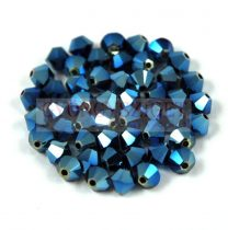 Swarovski bicone 3mm - crystal metallic blue ab 2x