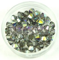 Swarovski bicone 4mm - black diamond ab