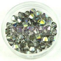 Swarovski bicone 4mm - black diamond ab