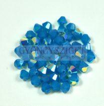 Swarovski bicone 4mm - carribian blue opal ab