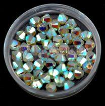 Swarovski bicone 4mm - chrysolite opal AB 2x