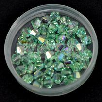 Swarovski bicone 3mm - chrysolite ab