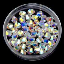 Swarovski bicone 3mm - crystal ab 2x
