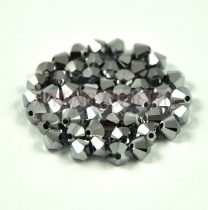 Swarovski bicone 4mm - crystal light chrome 2x