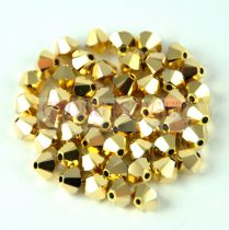 Swarovski bicone 3mm - crystal aurum 2x
