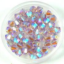 Swarovski bicone 4mm - Light Amethyst AB 2x