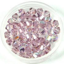 Swarovski bicone 4mm - light amethyst ab