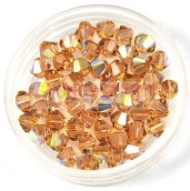 Swarovski bicone 3mm - light colorado topaz ab