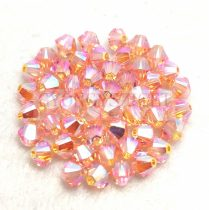 Swarovski bicone 4mm - Light Peach AB 2x