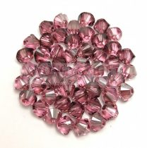 Swarovski bicone 4mm - Light Rose Satin