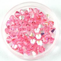 Swarovski bicone 4mm - light rose ab